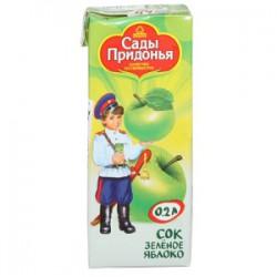 Сок для детей, Сады Придонья 200 мл яблоко зеленое осветленное без сахара с 3 мес тетрапак